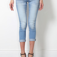 Flying Monkey Light Roll-Up Skinny Jeans