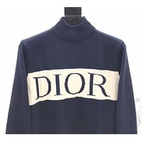 DIOR New fashion letter print long sleeve top sweater White