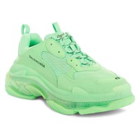 Mint Clear Sole Triple S Sneakers by Balenciaga