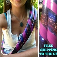 Collapsible / Mini Hula Hoop (s) - Galaxy - FREE SHIPPING to the US