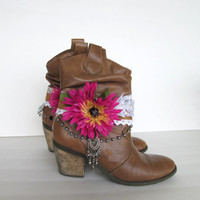 Boot cuffs, Gypsy Boot Wrap, Boho Boot Accessories, Ankle cuff, Boot bracelet, Boot accessories, Fashion Boot Bling.