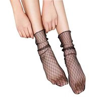 5 Pair-Sexy Mesh Fishnet Socks Soft Silk