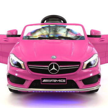 MERCEDES BENZ CLA45 RIDE-ON TOY CAR WITH PARENTAL REMOTE   PINK