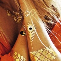 Sofia Flash tattoos in gold | SHOWPO Fashion Online Shopping
