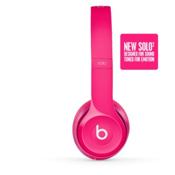 New Pink Solo2 Headphones | Beats by Dre