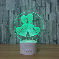 Running Rivers And Lakes 3D Night Light Strange Electronic Usb Bluetooth Speaker Creative Led Desk Lamp
