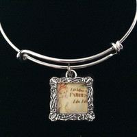 I Believe in Fairies Expandable Charm Bracelet Silver Adjustable Bangle Gift