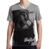Zoo York Men's The Queen is Dead T-Shirt, Grey, Large