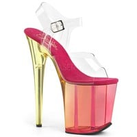 Ankle Strap Sandal 8 Inch Heel Stripper Shoes