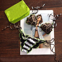 Hot New Arrival Summer Swimsuit Sexy Leopard Beach Swimwear Bikini [4914745028]