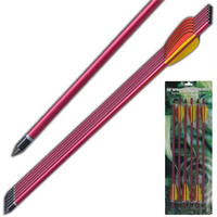"""Crossbow Arrows/ Bolts- 14""""- 6pc Set/ Red or Black"""
