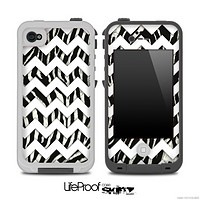 Real Zebra and White Chevron Pattern for the iPhone 5 or 4/4s LifeProof Case