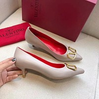 Valentino Big V-button shoes Heel height 4 cm