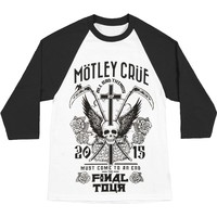 Motley Crue Men's  Final Tour Tattoo Baseball Jersey Black/White