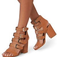 Laurence Dacade Kloe Buckled Leather Brown Sandals - INTERMIX®