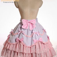 Cute Lolita Scallop Bottom Tiered Trimmings Skirt*Instant Shipping