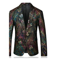 Men Blazer Slim Fit Fancy Blazers For Men Stage Costumes For Singers Prom Blazers Mens Paisley Suit Jacket