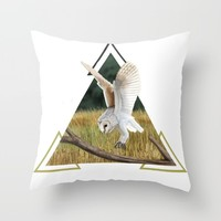 Barn Owl Throw Pillow by North Star Artwork