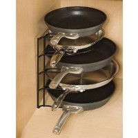 Rubbermaid Pan Organizer, Cookware Rack, Black