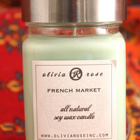French Market 9oz Natural Soy Wax Jar Candle