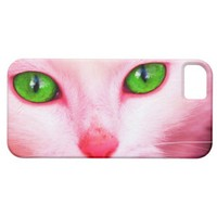 Pink Cat iPhone 5 Case from Zazzle.com
