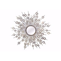 Goring Contemporary Round Accent Wall Mirror By Baxton Studio