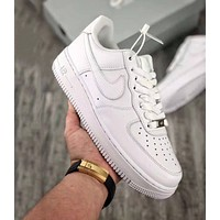 Samplefine2 Nike  Air Force 1 AF1 Low Men Women Fashion Casual Running Sports Shoes Sneakers All White