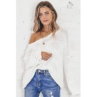 Vanilla Latte Ivory Knit Sweater