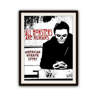 American Horror Story Tate Langdon Typography Poster