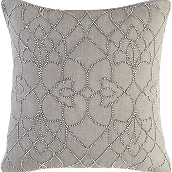 Dotted Pirouette Throw Pillow Gray, Gray