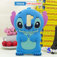 3D Stitch Disney Cartoon Soft Silicone Case Cover For LG G2 D802 Mobile Phone