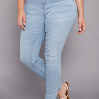Plus Size Washed Skinny Jean