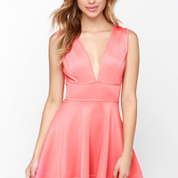 Like You Do Coral Pink Dress