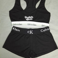 """Calvin Klein"" Women Sport Casual Fashion Letter Multicolor Tight Shorts Underpant"