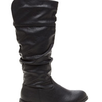 Just Slouch Faux Leather Boots