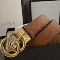 LV Louis Vuitton GG classic double buckle smooth buckle belt