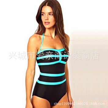 Fashion 2016 Trending Fashion Women Mixed Color Triangle Swimwear Swimsuit Bikini _ 13013