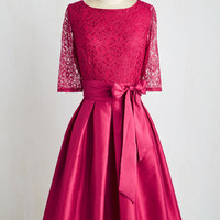 Long 3 Fit & Flare Only a Glamour of Time Dress