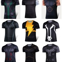 Marvel Super Heroes Avenger Captain America Batman Compression Armour Base Layer Thermal Under fitness