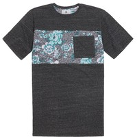 On The Byas Rodey Floral Print T-Shirt - Mens Tee - Gray -
