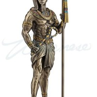 Khonsu God of Moon and Time Protection Egyptian Statue Figurine 11H