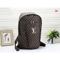 Louis Vuitton LV New Fashion Monogram Plaid Leather Women Shopping Leisure Backpack Bag 3#
