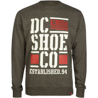 Dc Shoes Stacked Flag Mens Sweatshirt Charcoal  In Sizes