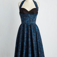 Pinup Long Sleeveless Fit & Flare Reinforce Your Fabulousness Dress
