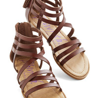 ModCloth Boho Couldn't Be Better Sandal in Cocoa