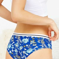 Contrast Band Botanical Print Hipster Knickers - Urban Outfitters