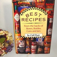 Best Recipes from Boxes Bottles Cans and Jars Cook Book by Ceil Dyer Vintage 1993 Hardcover Modern American Food Semi-Homemade FREE SHIPPING