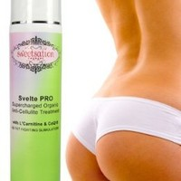 Svelte PRO Supercharged Organic Anti-Cellulite Treatment with L`Carnitine, CoQ10 and 25 Fat Fighting Slimulators: Beauty