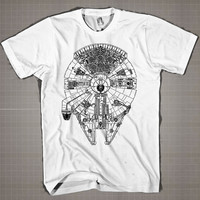 Millennium Falcon  Mens and Women T-Shirt Available Color Black And White