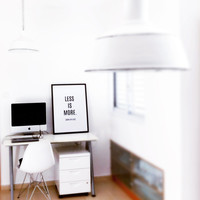 """PRINTABLE Poster Set of 3: """"Less is More, More or Less"""" 20x30'', 5x7'', A4 sizes, DIY Black and white modern Prints for your home"""